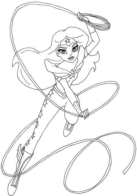 18 best Super Hero Girls images on Pinterest Coloring pages