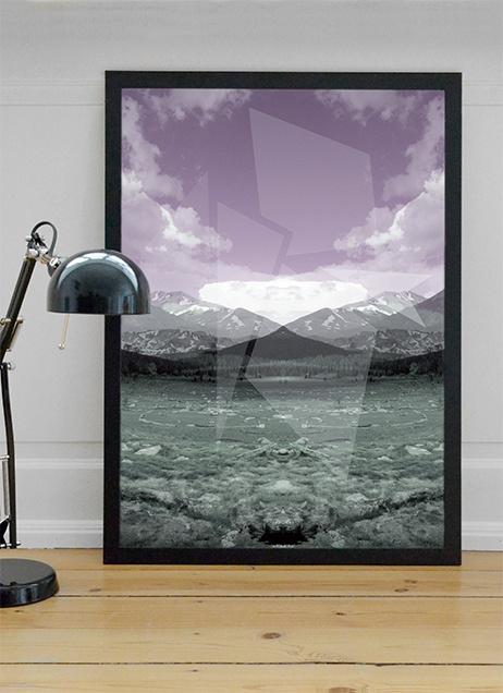 Rocky reflection Poster  www.designbyjelle.dk