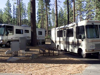 RV Park Campgrounds Right By Lake Tahoe