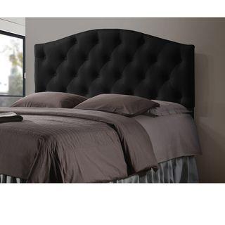 Black Upholstered Queen Headboard - Overstock