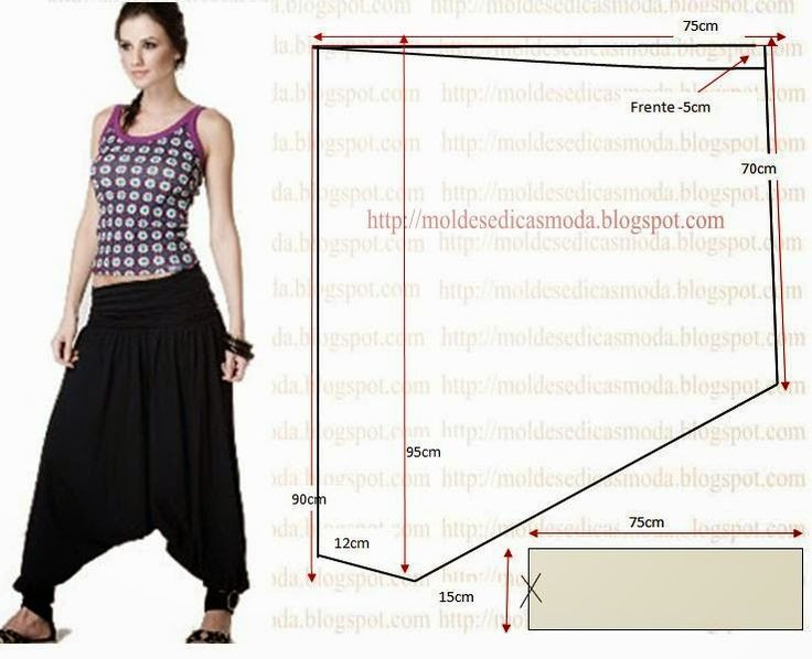 Harem pants patterns instructions