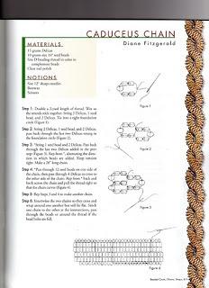 Caduceus chain | Korálkové návody | Pinterest