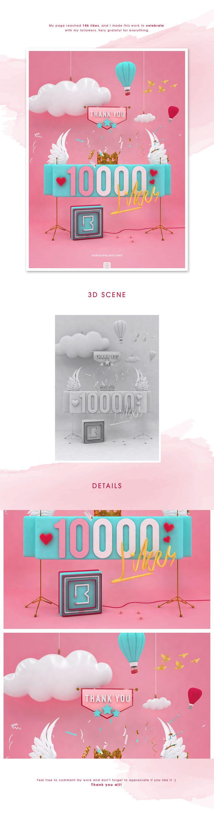 10K Likes - Fanpage on Behance