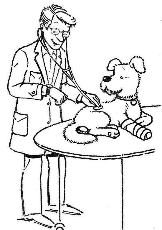 Veterinarian Check Signs Iill Health Dog Coloring Page Dog Coloring Page Owl Coloring Pages Coloring Pages