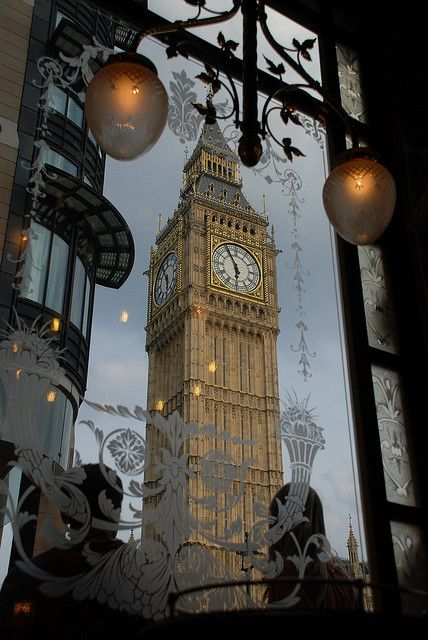 Big Ben from St. Stephen's Tavern, London