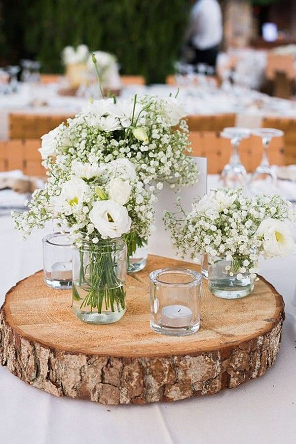 Baby S Breath Is Such A Beautiful Choice For Wedding Flower Arrangements As It In 2020 Wedding Centerpieces Babys Breath Centerpiece Wedding Wedding Table Centerpieces