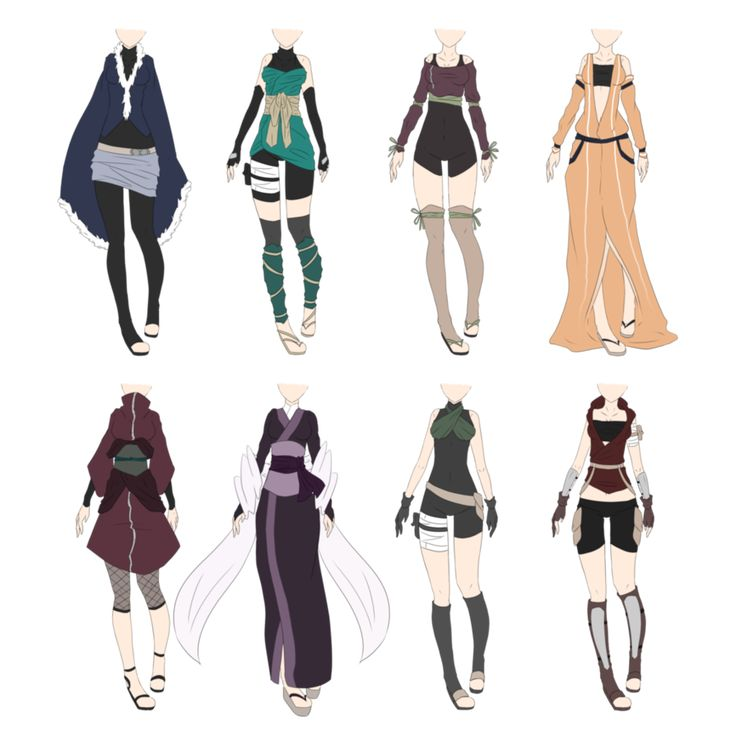 Naruto Outfit Adoptables 6 [CLOSED] by xNoakix3 on DeviantArt