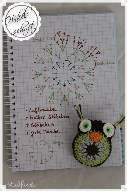 Amigurumi Owl - Chart ❥ 4U // hf