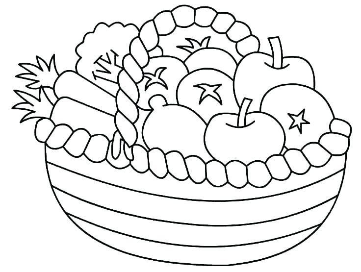 Fruits Coloring Sheet Bowl Of Fruit Page Pages Vegetable Fruit Coloring Pages Basket Drawing Vegetable Coloring Pages