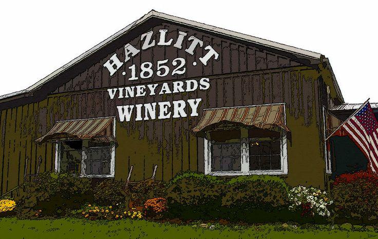 Hazlitt Winery | Hazlitt Winery 1852 Painting by David Lee Thompson - Hazlitt Winery ...