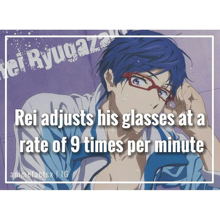 """1,991 Likes, 62 Comments - Anime Facts  (@animefactsx) on Instagram: """" I really love glasses on guys.. But i think people fetishize glasses in general. You could put…"""""""