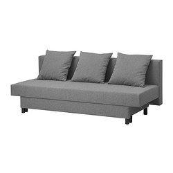 ASARUM 3-zits slaapbank, grijs - IKEA