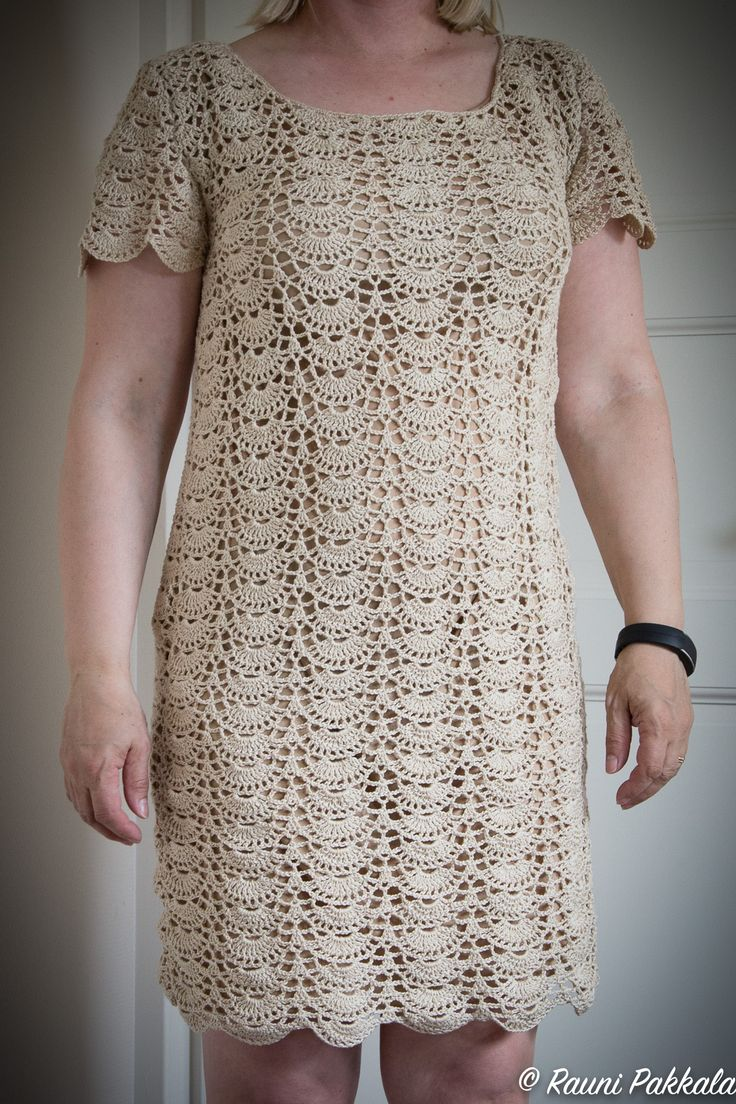 Crochet dress, pattern from here https://fi.pinterest.com/pin/491385009318800026/