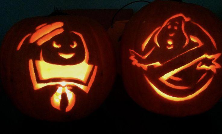 Ghostbusters!   Halloween 2012  Ghostbusters pumpkins