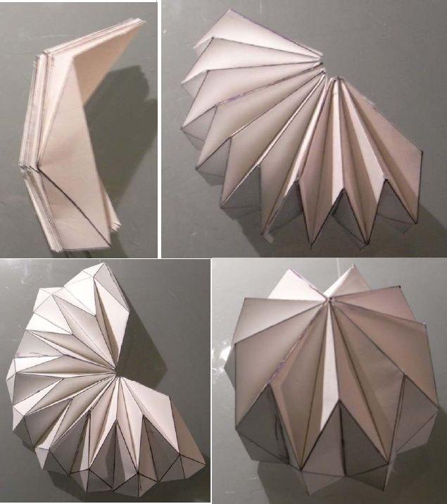 Desarrollo c pula origami origamis pinterest origami for Architecture origami