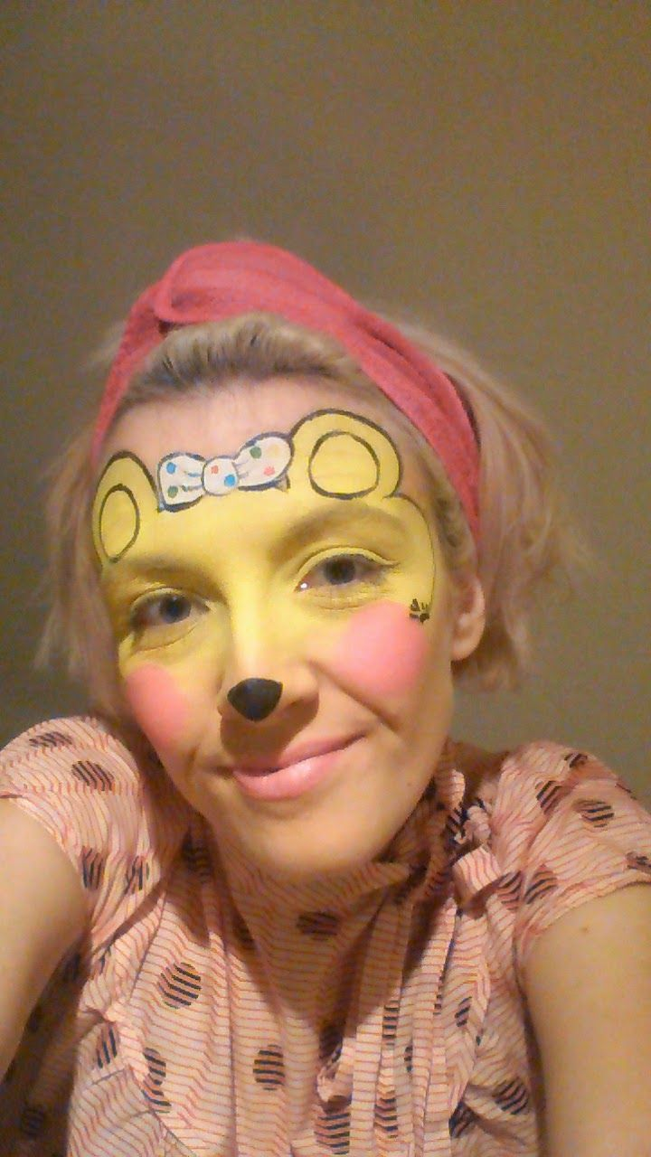 Funny face painting for kids creative art and craft ideas - Children In Need 2014 Face Painting Ideas Girl Pudsey Bear