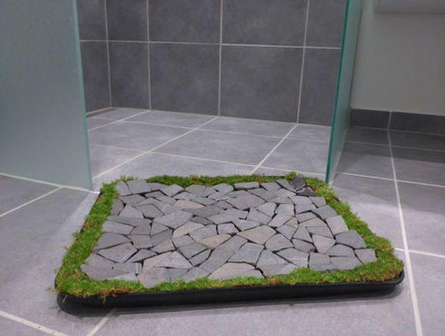 Bath Mat with Rocks and Moss. Ponad 1000 pomys  w na temat  Moss Bath Mats na Pintere cie