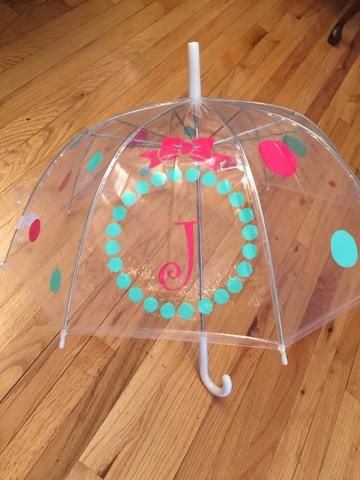 Personalized Clear Dome Umbrella Adult Size Monogrammed Bubble Umbrell – Kings Custom Design, Perfect for Easter or An Easter Basket Umbrella