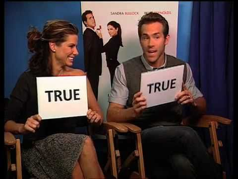 TRUE or FALSE quiz with Sandra Bullock and Ryan Reynolds - YouTube