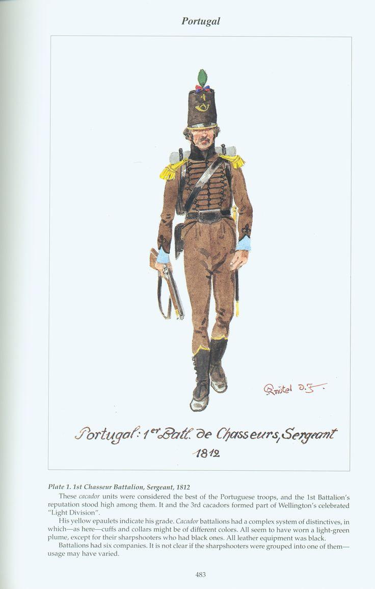 Portugal: Plate 1. 1st Chasseur Battalion, Sergeant, 1812