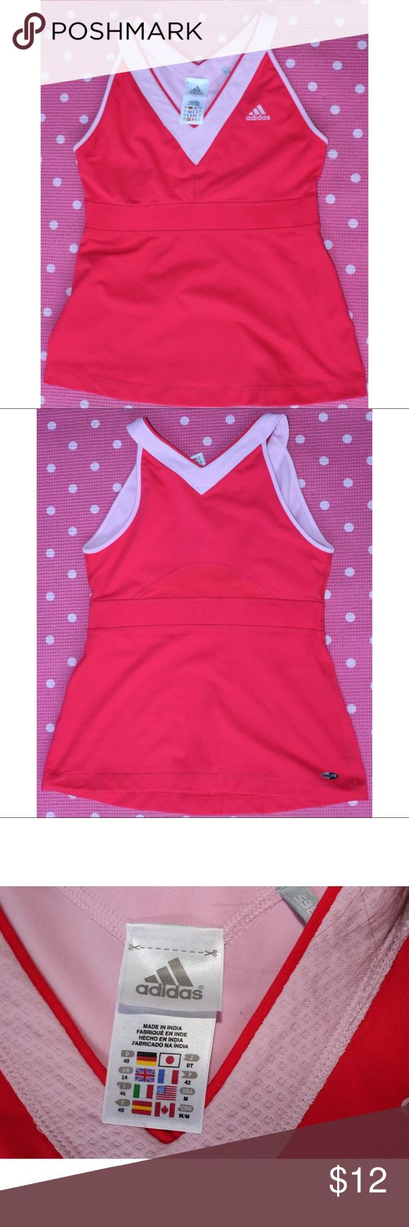 Hot Pink Adidas Racerback Tank In Perfect Condition. Very cute shirt to work out in ☺️🏋️ adidas Tops