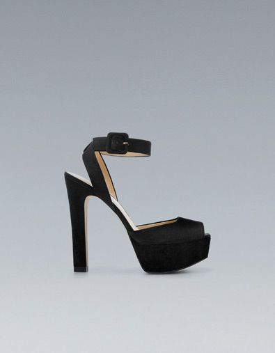 HIGH HEEL SANDAL WITH ANKLE STRAP - Heeled sandals - Shoes - Woman - ZARA United States