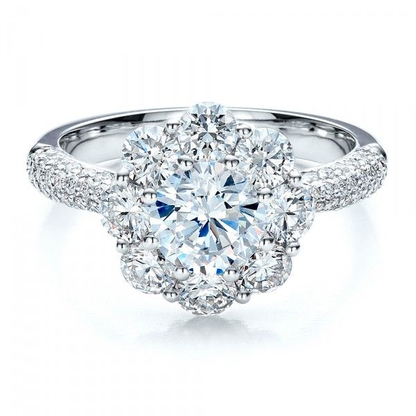 Very feminine! Cluster of Diamonds wedding ring from from Joseph Jewelry
