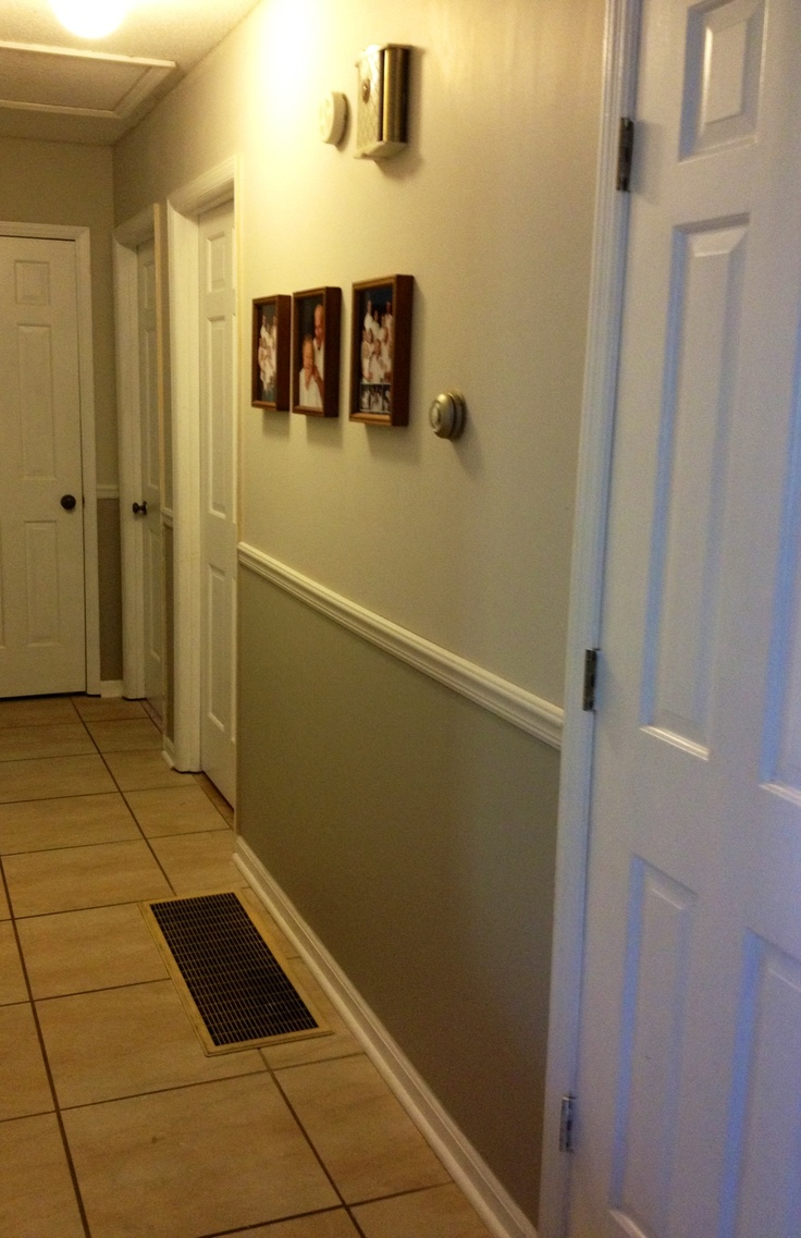 Two Tone Gray Hallway Decor By Me Pinterest