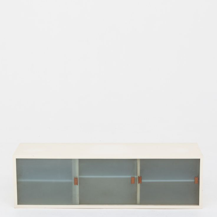 Unique wall-mounted cabinet by Finn Juhl for cabinetmaker Niels Vodder