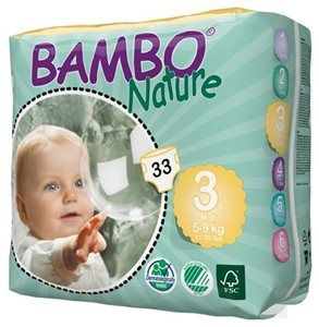 Pieluszki jednorazowe Bambo Nature Midi 5-9 kg 33 szt ABENA Toddlersi