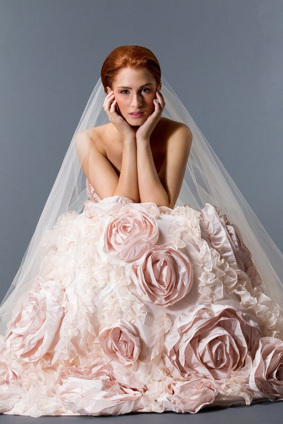 Amazing Pink Wedding Gown By Sareh Nouri