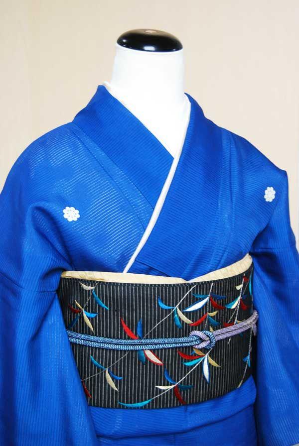 大正時代色留袖 涼しげな水辺風景!菖蒲に撫子 | kimono sarasa