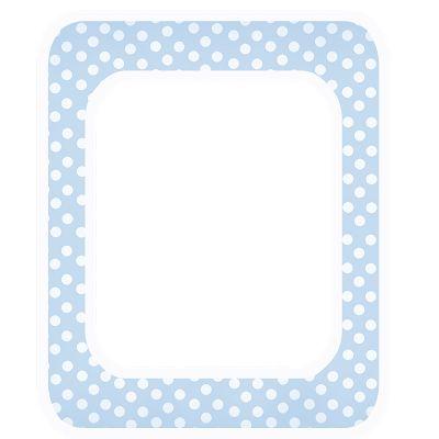 elements free baby blue polka digi scrapbook frame