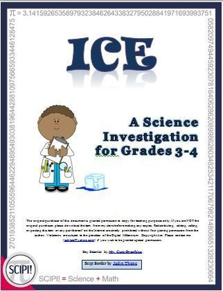 This 20 page resource is a six lesson science investigation for grades 3-4 which uses ice cubes.  The inquiry guides the student through the six steps of the scientific method:  1) Investigating Properties  2) Interactions  3) Making a plan  4) Determinin
