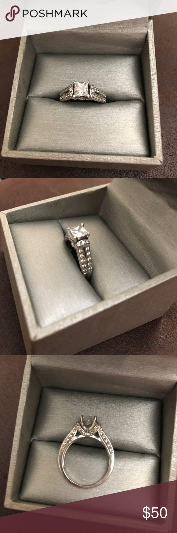 Cz Engagement Wedding Ring