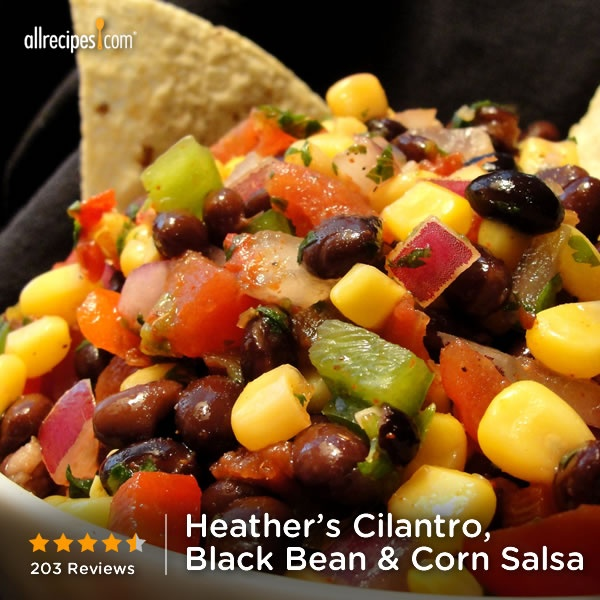 """Heather's Cilantro, Black bean, and Corn Salsa 