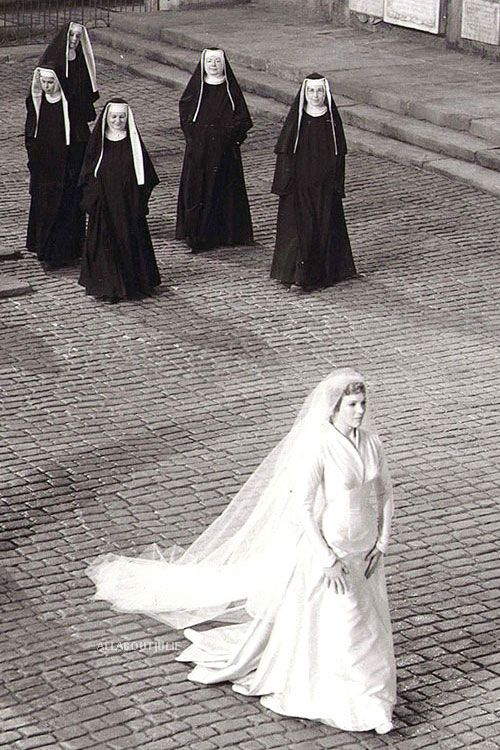 Maria on her way to the chapel to marry Capt. Von Trapp - The Sound of Music. FAV MOVIE EVER
