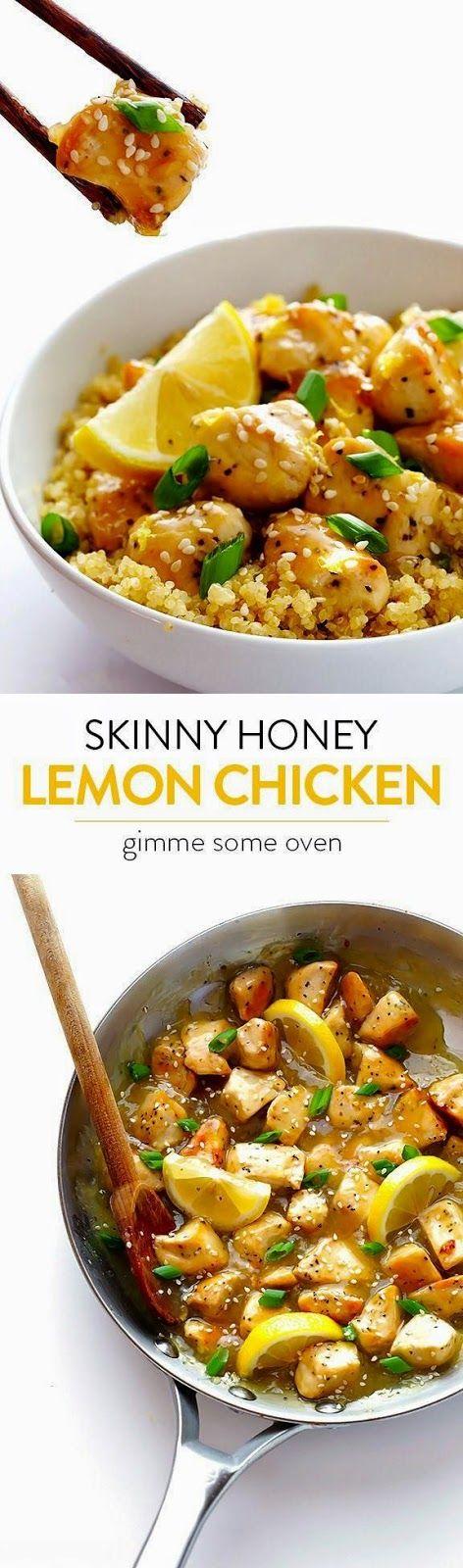 //SKINNY HONEY LEMON CHICKEN #healthy