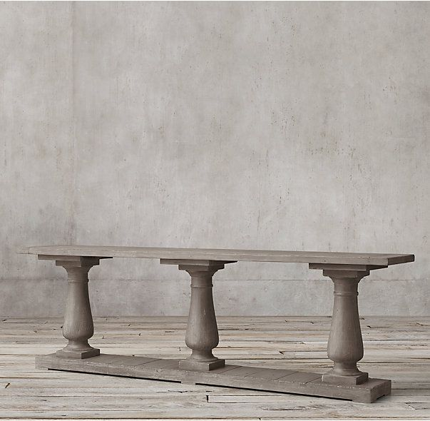 Balustrade Salvaged Wood Large Console Table