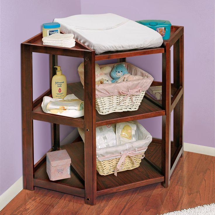 Badger Basket Cherry Diaper Corner Changing Table - 12114167 - Overstock - Big Discounts on Badger Basket Changing Tables - Mobile