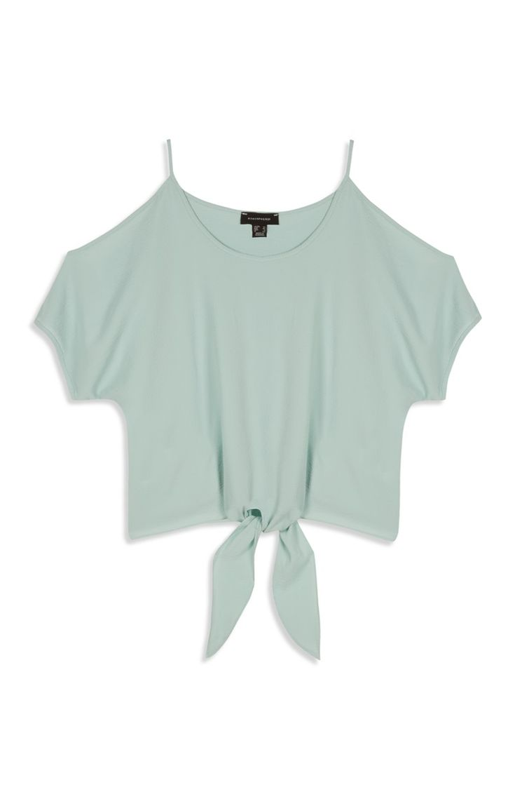 Primark london fashion week day in the life primark womenswear - Primark Mint Cold Shoulder Tie Waist Crop Top Primark Shopprimark Fashionprimark Clothescold