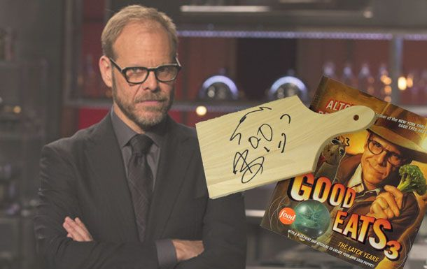 Enter now for a chance to win an autographed cutting board from Alton Brown and the Good Eats 3 Cookbook!Food Network, Cutting Boards, Alton Brown, Autograph Cut, Boards Signs, Enter Foodnetwork, Cut Boards, Foodnetwork Cutthroatkitchen, Boards Autograph