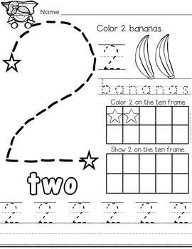 Number Practice 1-10 | Preschool writing, Numbers ...