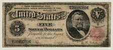 Series 1891 $5 Five Dollar Silver Certificate Grant Note FR #266  VG   3039