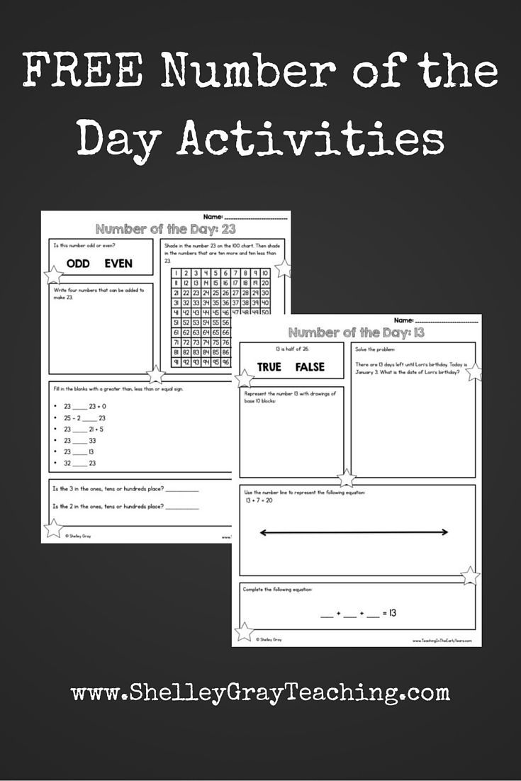 Number of the Day is a great way to reinforce number sense on a daily basis. It works well as morning work or a math warm-up. Here are a few free printables to get you started with number of the day in your classroom (numbers between 1 and 100)