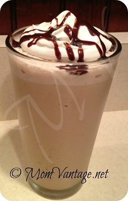 Frozen Coffee Bliss- secret is a little cool whip for texture and to blend smoothly! #coffee #recipe
