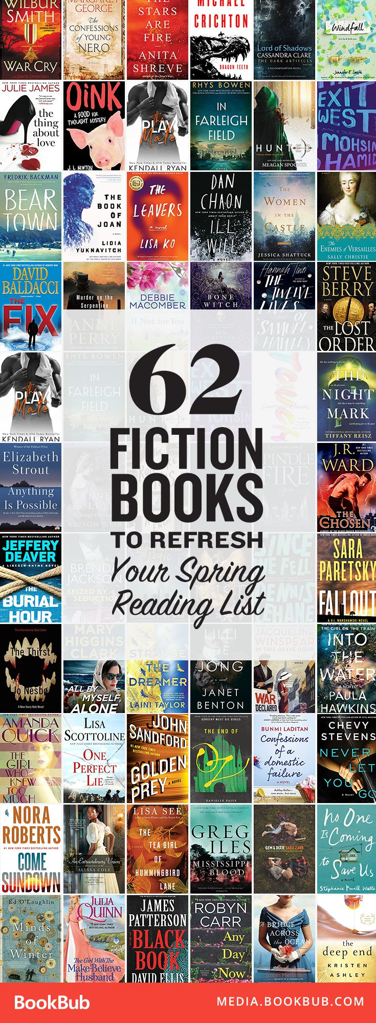 62 great fiction books to read this spring. Great novels for your 2017 reading list! | Best books of 2017 | Romance, mystery, thriller, humor, historical, and more