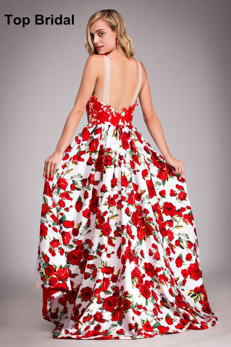 Asymmetrical Prom Dresses UK 2016 Real Photos Modest Red High Low Gradient Prom Dress Backless Camo robe rouge Occasion Dresses