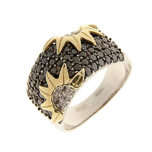 Кольцо из белого золота 585 с бриллиантами (#51110)