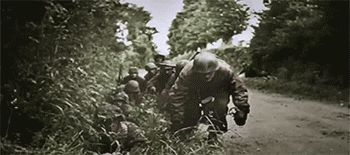 Great action with the 17. SS Panzergrenadier Division Götz von Berlichingen and the paratroopers from Fallschirmjäger-Regiment 6 in the area of Carentan, Normandy against US forces in mid-June 1944. Both Götz von Berlichingen Division and Fallschirmjäger-Regiment 6 remained in this sector for the remainder of June and most of July, struggling valiantly to hold back the Americans.